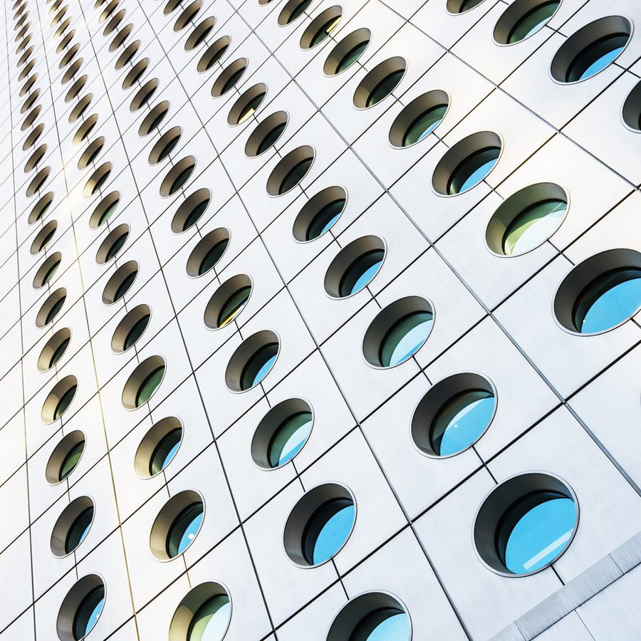 Circle, Built Structure, Office Building Exterior, Reflection, Steel